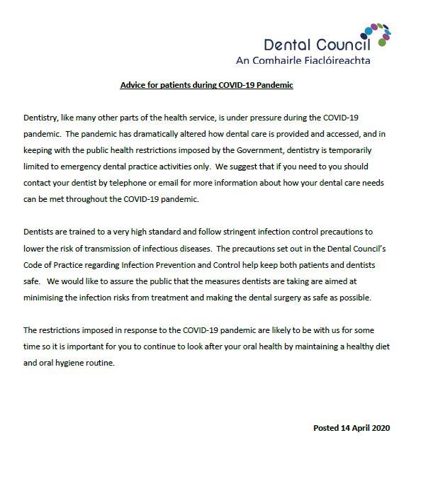 Dental council update